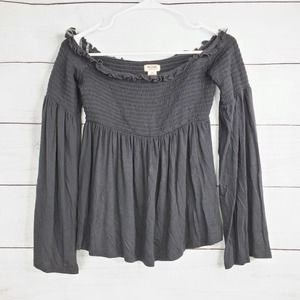 Mossimo Off Shoulder Smocked Flare Blouse